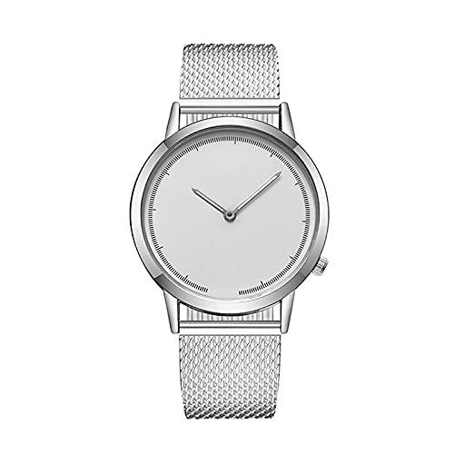 Reloj de correa de malla para mujer, reloj de pulsera ultrafino fullsilver