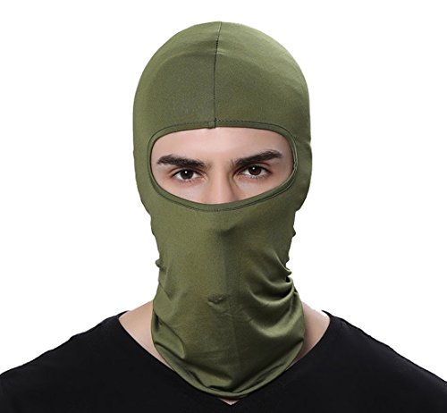 GAMWAY Ski Mask Balaclava Hood Skullies Beanies Outdoor Sports Cycling Hat (ArmyGreen)