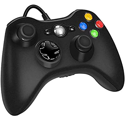 Xbox 360 Wired Controller for Microsoft Xbox 360, Game Controller with Dual-Vibration Turbo for Xbox 360/360 Slim and PC Windows 7,8,10 from YAEYE