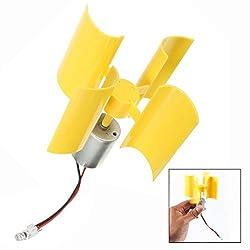 LHKJ 360 ° Windkraftanlage,Mini Wind Generator Motor DIY Wissenschaft Spielzeug