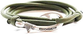سوار بعروة على شكل خطاف صيد الأسماك من Chasing Fin - سوار وخلخال رائع 76.2 سم من الدرجة العسكرية 550 - مقاس قابل للتعديل، ...