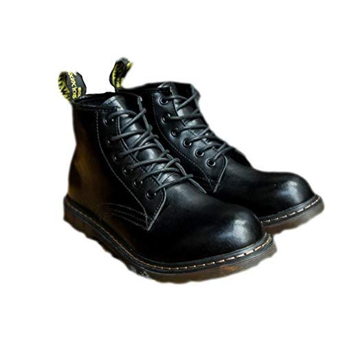 Punk Style - Botas para Hombre Negro Negro 40 EU, Color Negro, Talla 45 EU