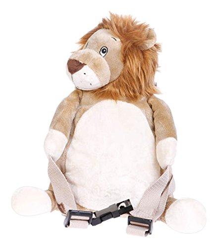 BoBo Buddies Sac à dos avec sécurité Lion Marron