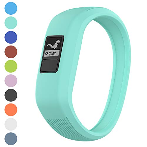 Watbro Bands Compatible with Garmin Vivofit JR/Vivofit JR2/ Vivofit 3, Soft Silicone Adjustable Stretchy Replacement Watch Bands with Buckle, for Vivofit jr/jr 2/3, for Kids Boys Girls Small Large