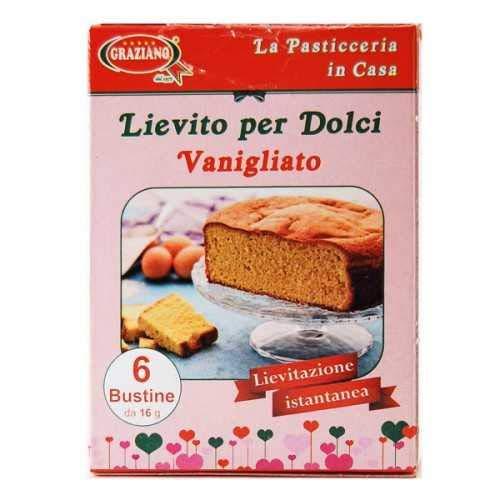 Graziano Lievito Per Dolci Vanigliato 96g, 50 Unità