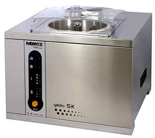 Nemox Pro 5K Crea 5K Crea Fully Automatic Commercial Tabletop Gelato/Ice Cream Maker with Conservation, 18.9""