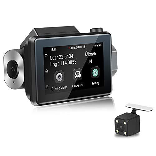 CáMara para Coche CáMara De Coche GPS WiFi,1080p Fhd 170° Gran áNgulo G-Sensor Modo De Estacionamiento, DeteccióN De Movimiento, GrabacióN En Bucle,CáMara De Aparcamiento