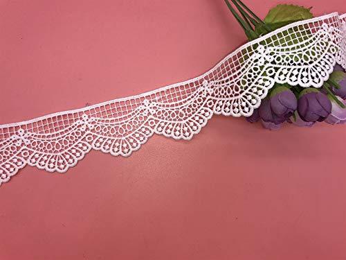 Little lane lace Netzmuster unelastische Stickerei-Bordüre, für Vorhang, Tischdecke, Schonbezug, Brautkleider/Accessoires, 5 cm breit 2 Meter...