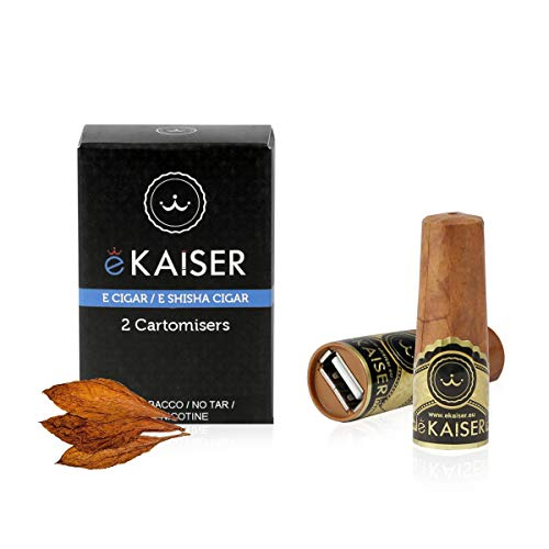 eKaiser Elektronische Zigarre 2er Pack Cartomizer Classic Cigar Flavour E Zigarre E Shisha Einweg 30/70 VG/PG Premium-Geschmacksrichtungen 700 ZÜGE für eKaiser aufladbare Zigarre, Cloud Chaser Vape
