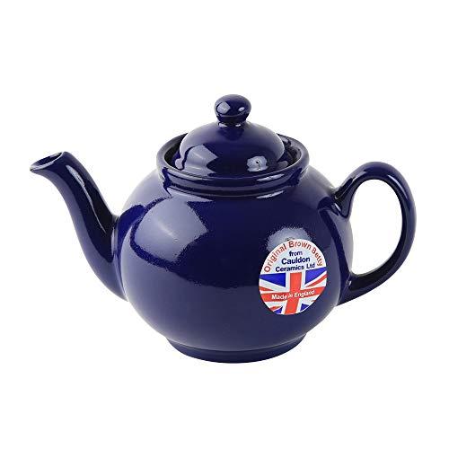 BROWNBETTYブラウンベティーティーポット2カップコバルトブルーNewモデル英国製CauldonCeramics
