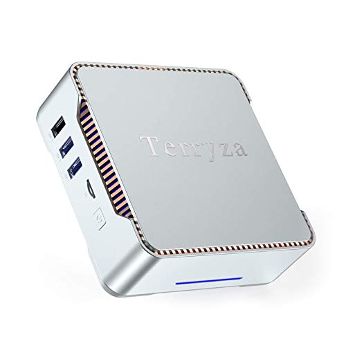 Mini PC Windows 10 Pro with Intel Celeron J4125,8GB RAM 256GB ROM Micro Desktop Computer Support Bluetooth 4.2 and Support 2.4G/5.0G Wifi