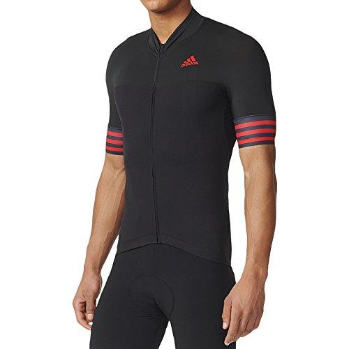 Fietsshirt Adistar SS Jersey Heren Zwart/Vivid Red