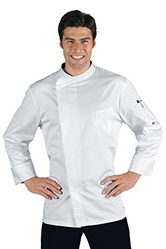 Kochjacke Bäckerjacke Kochbekleidung weiß langarm mit Druckknöpfe Größe XL