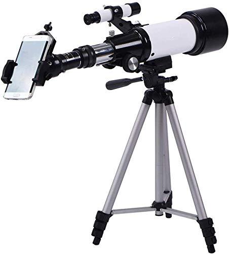 RTOPW Estudiante telescopio astronómico Telescopio de Observación Lunar Telescopio Multi-Ocular con el Muelle de Estación Móvil Viaje Ámbito Elescope (Color: Blanco, Tamaño: 63x12.5x21cm)