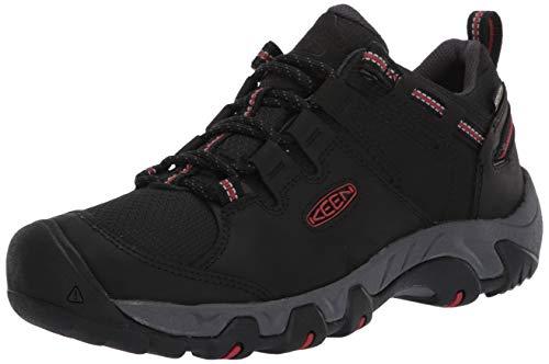 KEEN Steens Low Height Waterproof Hiking Shoe, Zapatos para Senderismo Hombre, Black/Bossa...