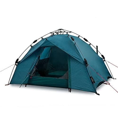 Qeedo Quick Ash 2 Tenda da campeggio 2 posti, tenda automatica (Quick-Up-System) - Lakeblue