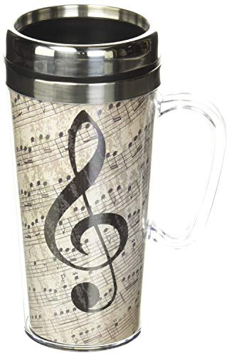 Spoontiques Music Insulated Travel Mug, 14 ounces, Multi