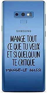 ZOKKO Case for Samsung Note 9 Mange Tout Que tu Veux Transparent Soft Black Ink