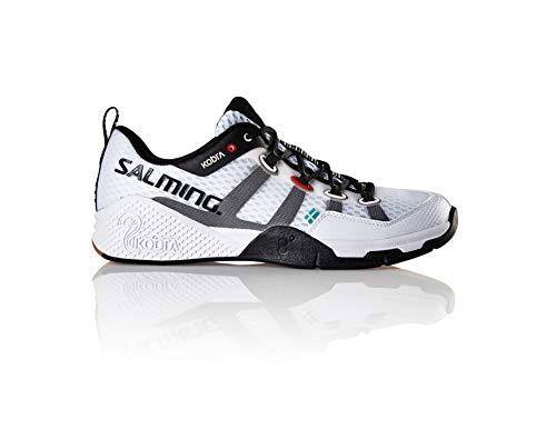 Salming Women's Kobra White Squash Indoor Court Sports Shoes, 7.5