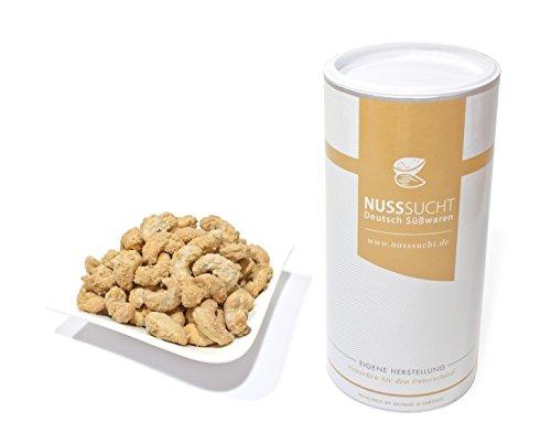 Gebrannte Cashewkerne | Inhalt: 500g | ohne Zusatz- und Konservierungsstoffe | mit wenig Zucker