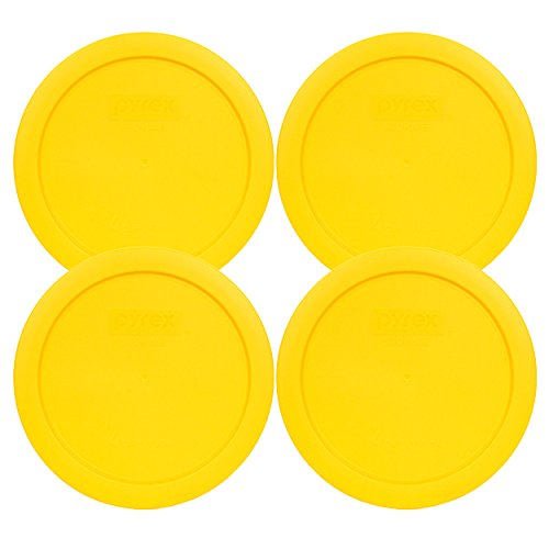 Pyrex 7201-PC 4 Cup Meyer Yellow Storage Lid for Glass Bowls (4, Yellow)