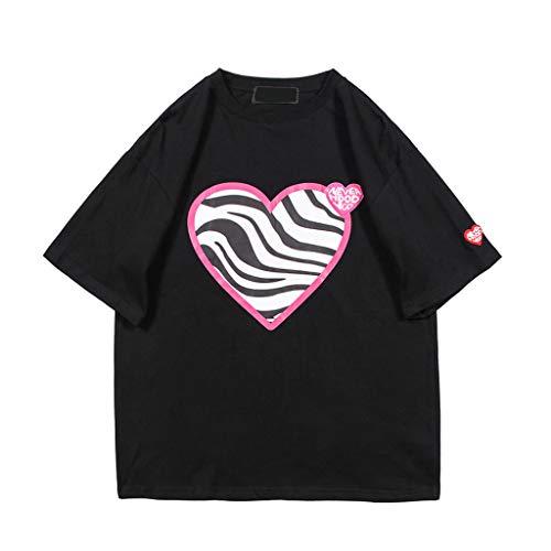 PengBO Camisetas para Hombre, Moda Casual de Hip Hop Floja de Manga Corta, Amor West Coast Ripple Print Streetwear,Green-XX-Large