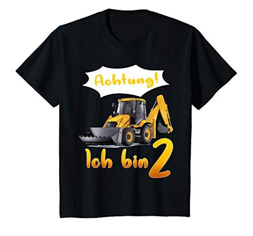 Kinder Kinder Bagger Motiv für Jungen 2 Jahre, Baustelle, Traktor T-Shirt