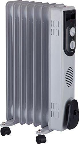 Jata R107 Radiador de aceite con 7 elementos caloríficos, 1500 W, Acero Inoxidable, Blanco