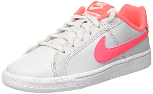 Nike Court Royale Gs, Scarpe da Ginnastica Basse Bambina, Multicolore (Cool Grey/black-pure Platinum-pink Blast), 38 EU