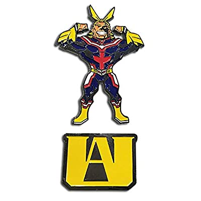 Great Eastern Entertainment My Hero Academia All Might & U.A. High School Logo Enamel Pins Set of 2 from Great Eastern