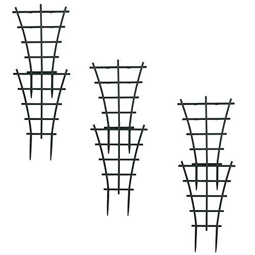 VSTAR66 - 6 tralicci in vaso per piante rampicanti, in plastica resistente sovrapposta per giardino, patio, fiori, ortaggi, pannelli
