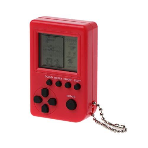 MYA - 1 consola de juegos retro, tetris, mini ordenador de bolsillo para niños, videoconsola, juguete integrado con 26 juegos, uso para llavero