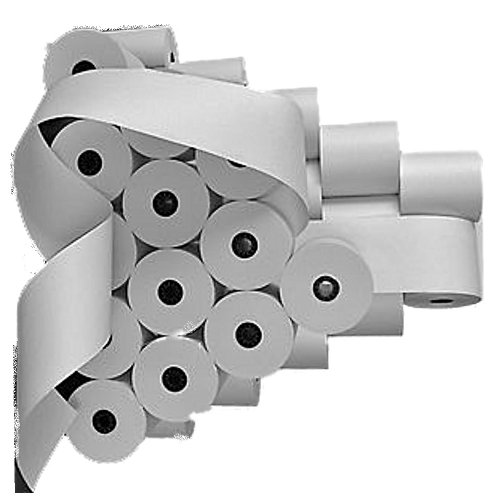 Kassenrollen für Olympia CM 70 (50.stück)-57mm x 65mm x 40m Kern Ø 12mm- weiß holzfrei-Farbbandfabrik Original