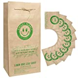 Brown Paper Lawn Leaf Bags 30 Gallon 10 pack. String to Close the bag. Yard Waste bags for Garden Compost debris, leaves, grass clippings, Refuse & Trash. Environment friendly, Biodegradable & Recyclable