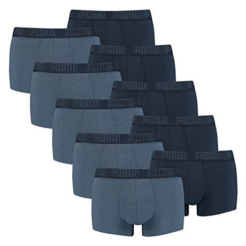 PUMA 10 er Pack Short Boxer Boxershorts Men Pant Unterwäsche kurz 100000884, Farbe:007 - Denim, Bekleidungsgröße:L