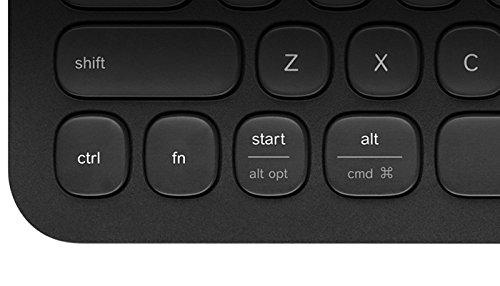 Logitech K480 Kabellose Bluetooth-Tastatur für Computer, Tablet und Smartphone, Multi-Device & Easy-Switch Feature, Kompaktes Design, PC/Mac/Tablet/Smartphone, Deutsches QWERTZ-Layout - weiß