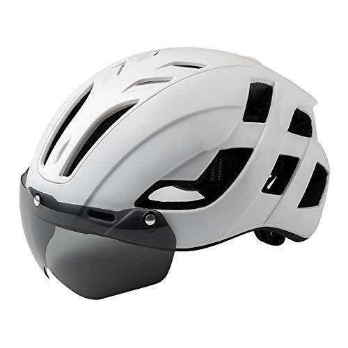 Casco de bicicleta para adultos Cascos de ciclismo - Cascos de bicicletas, Cascos para montar en bicicleta para hombres, Gafas de carretera, Casco de seguridad de una pieza, Equipo de ciclismo para mu