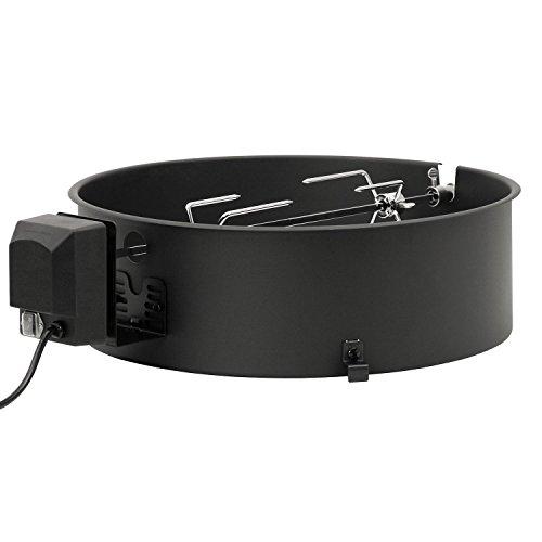 BBQ-Toro Set girarrosto per Grill Tondo di Weber (47 cm) e Molti Altri Modelli, rosticceria, spiedini per Grill a Carbone
