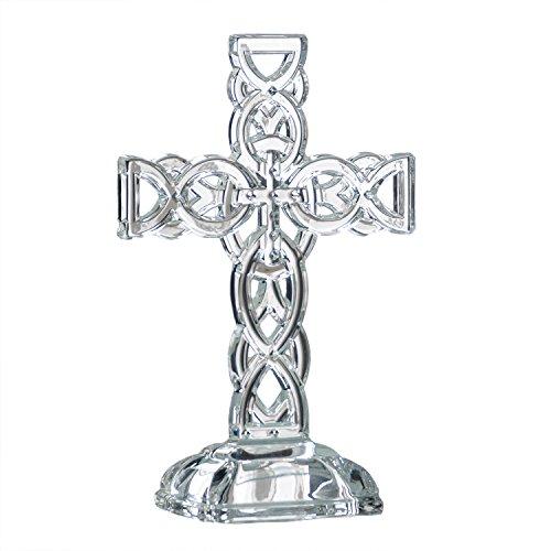 "Galway Irish Crystal 10"" Celtic Cross"