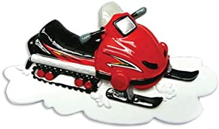 Grantwood Technology Personalized Christmas Ornaments Hobbies/Activities-Snowmobile/Personalized by Santa/Snowmobile Ornament/Snowmobile Christmas Ornament