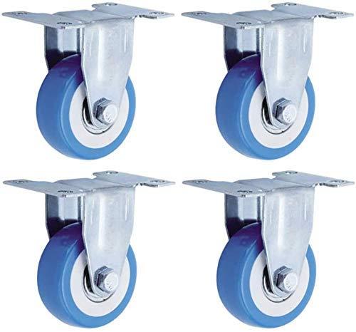 MKXF roulettes de Meubles de boîte de Rangement de Table Basse de Garde-Robe Moyenne de 4 pièces, Roues de Roulette de Chariot d'échafaudage