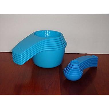 Tupperware Measuring Cup & Spoon Set Newest Design Blue