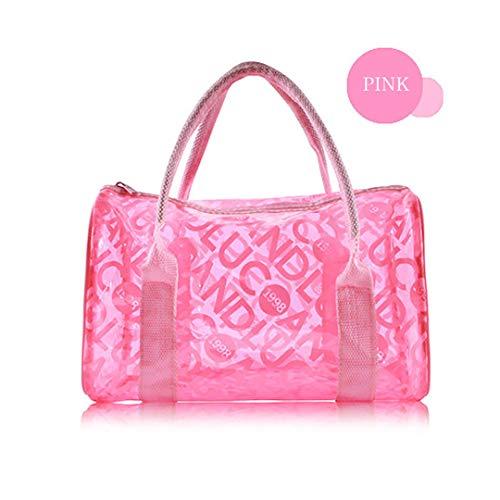 Bolsa de lavado para natación exterior, impermeable, bolsa de viaje, para deportes de playa con gelatina portátil, rosa (Rosa) - FTHB190803