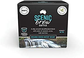 Scenic Brew, 3 packs of 10 pods (30 total), Swiss Water Decaf