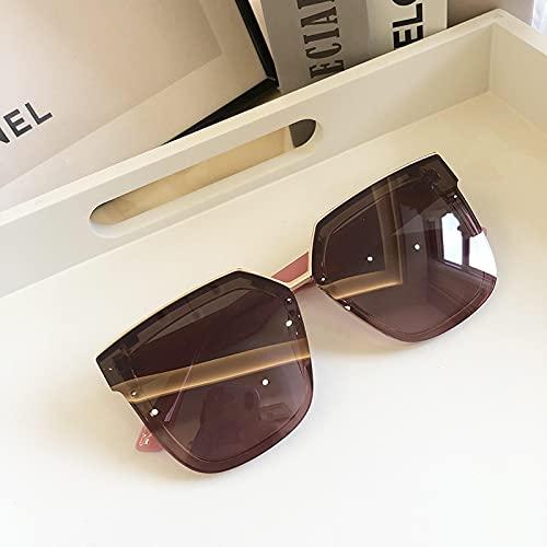 ShZyywrl Gafas De Sol Gafas De Sol Cuadradas Polarizadas para Mujer, Marca De Lujo, Tonos Negros De Gran Tamaño, Lentes Planas, Gafas De Conducción De Moda Par