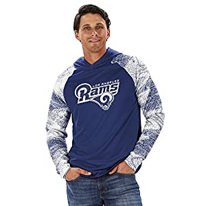 ZUBAZ Men's Pullover Hoodie, Team Color, multi, X-Large
