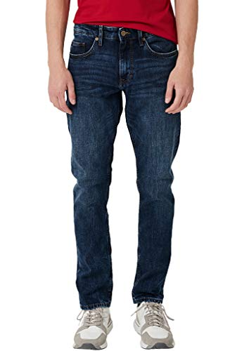 s.Oliver Herren Slim Fit: Straight leg-Denim mit 5-Pocket-Form blue denim stretch 31.30