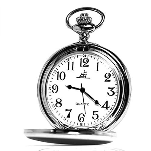 HNHYNSY Reloj de bolsillo de cuarzo clásico retro de 1.9 pulgadas, doble pantalla digital, regalo para hombres de mediana edad y ancianos (color: números arábigos)