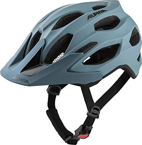 Alpina Unisex– Erwachsene Carapax 2.0 Fahrradhelm, Dirt-Blue matt, 52-57 cm