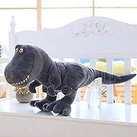 WWFAN グリーン恐竜ぬいぐるみシミュレーション大型恐竜のぬいぐるみクリエイティブコンフォートソフトベッドの動物恐竜の人形のリアルな漫画の人形ベストバースデークリスマスパーティーギフト解凍小道具 (Color : Black, Size : 70cm)